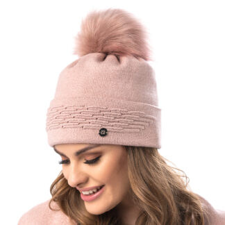 Madrid women's winter hat with pompom